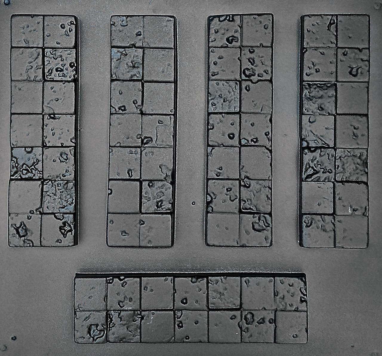 """Комплект """"Корсика"""" - 3 формы для гипсовой плитки. 10х30х2см. 1 м² = 33,3шт."""