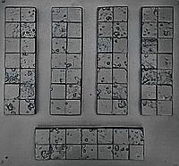 """Комплект """"Корсика"""" - 3 формы для гипсовой плитки. 10х30х2см. 1 м² = 33,3шт., фото 1"""