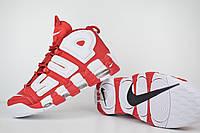 Мужские кроссовки в стиле NIKE Air More Uptempo Supreme , красные