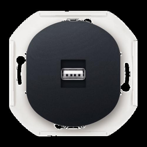 Розетка USB черная Eon Aling Conel