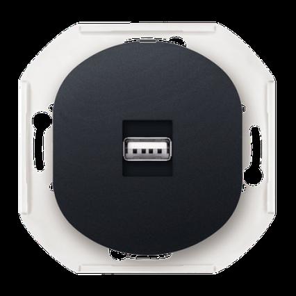 Розетка USB черная Eon Aling Conel, фото 2
