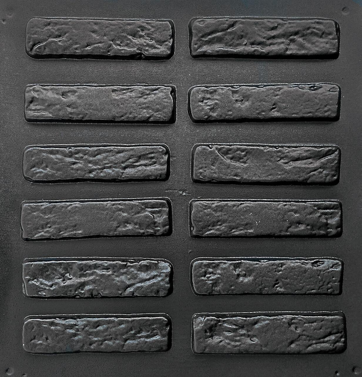 """Комплект """"Римский кирпич"""" - 3 формы для гипсового кирпича. 19,х5х1см. 1 м² = 102шт."""