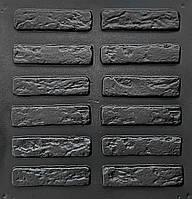 """Комплект """"Римский кирпич"""" - 3 формы для гипсового кирпича. 19,х5х1см. 1 м² = 102шт., фото 1"""