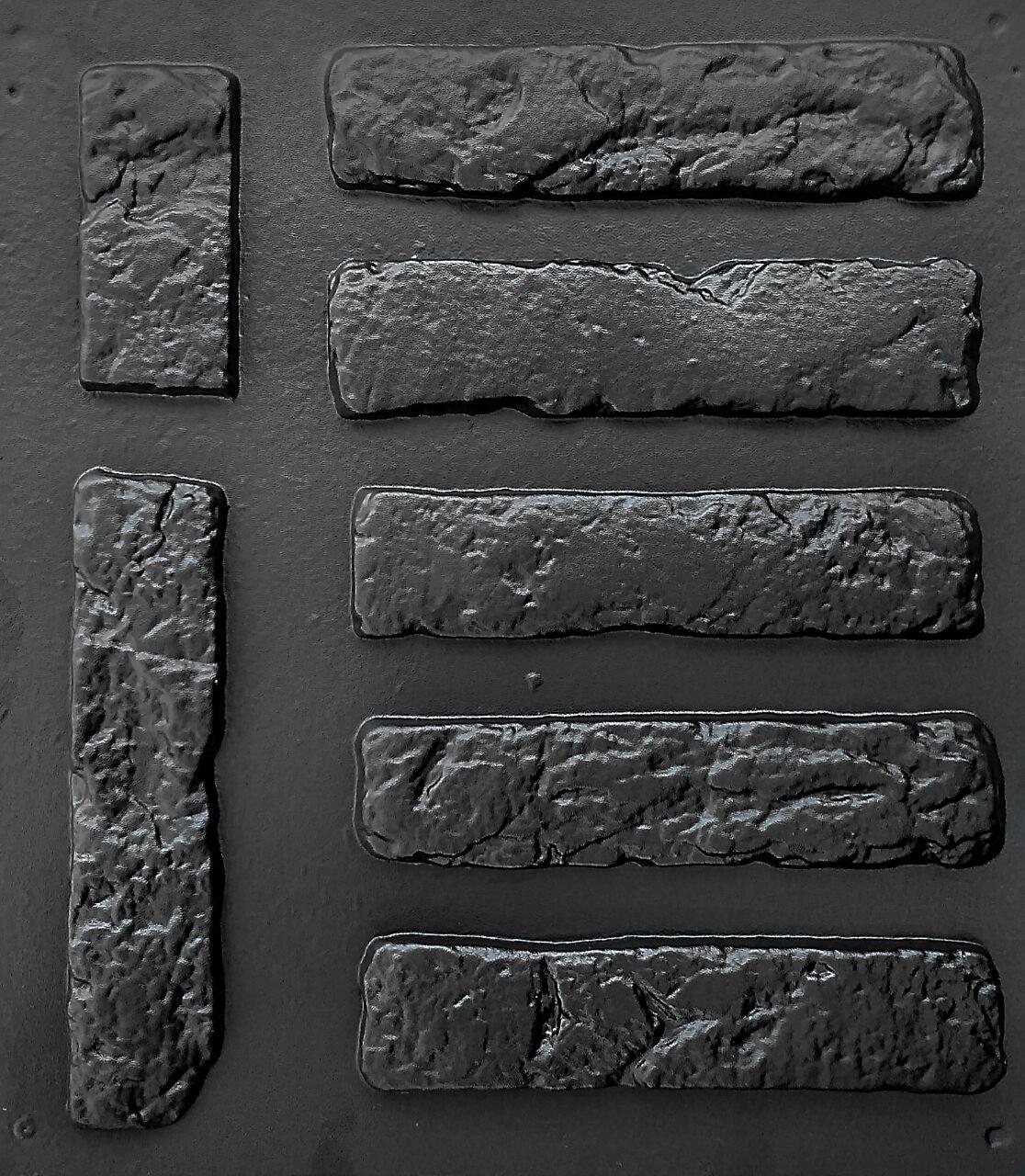 """Комплект """"Старый кирпич"""" - 3 формы для гипсовой плитки. 28х6,5х0,8см. 1 м² = 54 шт. АБС пластиковые формы"""