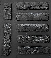 """Комплект """"Старый кирпич"""" - 3 формы для гипсовой плитки. 28х6,5х0,8см. 1 м² = 54 шт. АБС пластиковые формы, фото 1"""