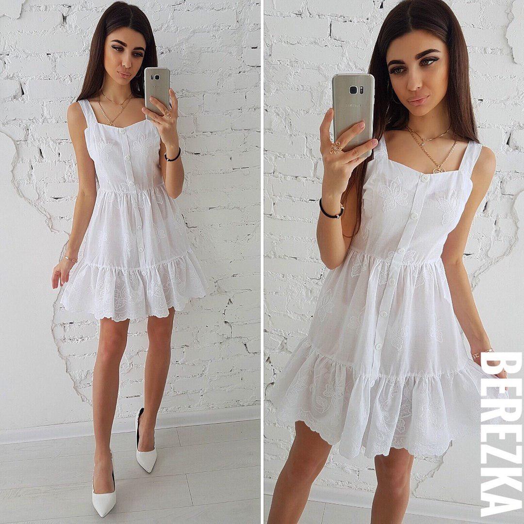 e7fb5b40b44 Нежное женское платье-сарафан (хлопок