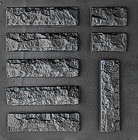 "Комплект ""Фагот"" - 3 формы для гипсового кирпича: 25х6,5 см. 1 м² = 61,5 шт."