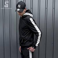 Худи мужское beZet black\white '18, черное, фото 1