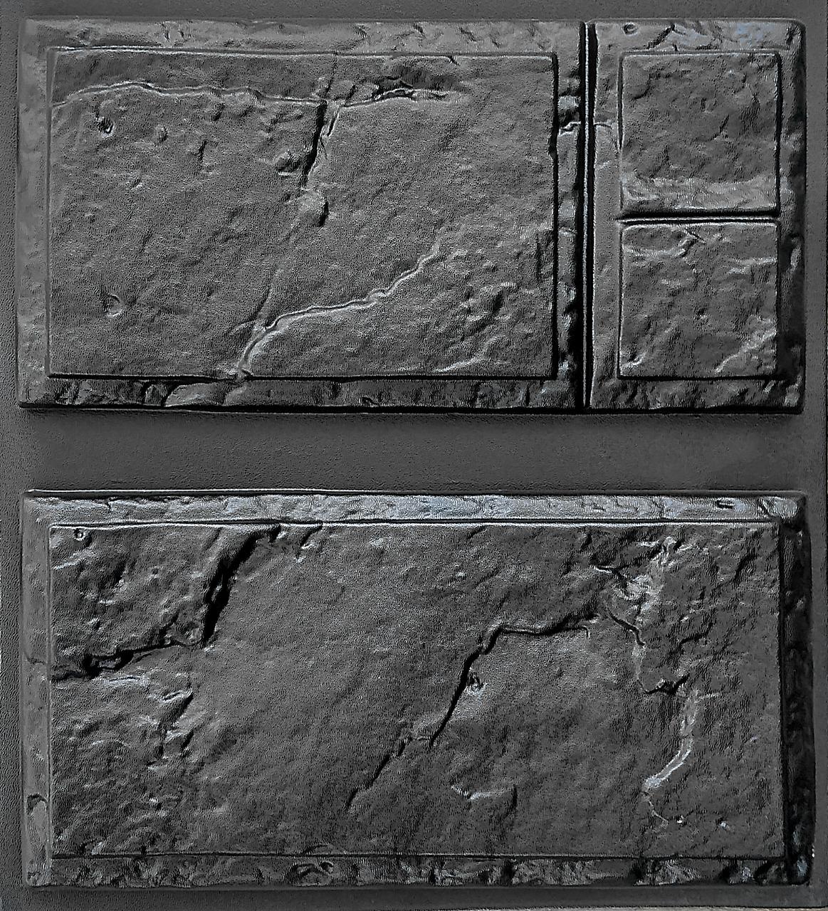 "Комплект ""Филенка"" - 3 формы для камня: 20х40см. 1 м² = 12,5 шт."