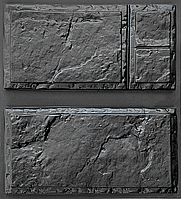 "Комплект ""Филенка"" - 3 формы для камня: 20х40см. 1 м² = 12,5 шт., фото 1"