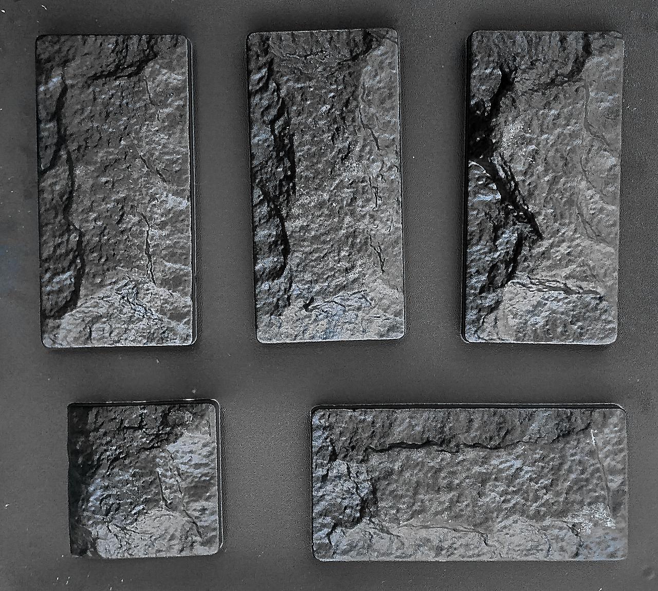 "Комплект ""Цокольный камень"" - 3 формы для камня: 25х12 см. 1 м² = 33,3 шт."