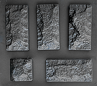 "Комплект ""Цокольный камень"" - 3 формы для камня: 25х12 см. 1 м² = 33,3 шт., фото 1"