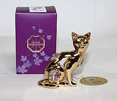 Фигурка с кристаллами Сваровски Кошка 7 см AR-3746