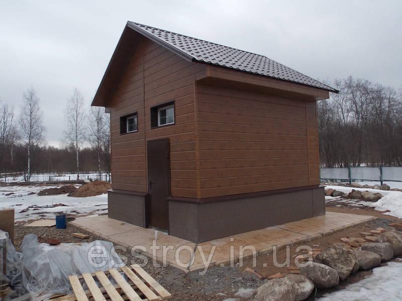 Вентилируемый фасад с отделкой фасадной панелью(металл).