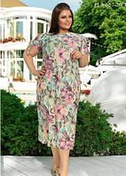 Летнее платье из шелка свободного покроя