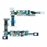 Шлейф для SAMSUNG N920 Galaxy Note 5 с разъёмом micro-USB, гарнитуры, микрофоном и подсветкой