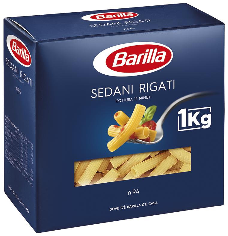 Макарони BARILLA 94 SEDANI RIGATI, 1кг, 15 шт/ящ