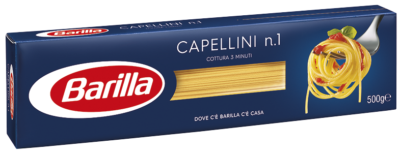 Макарони BARILLA 1 CAPELLINI, 500г, 24 шт/ящ