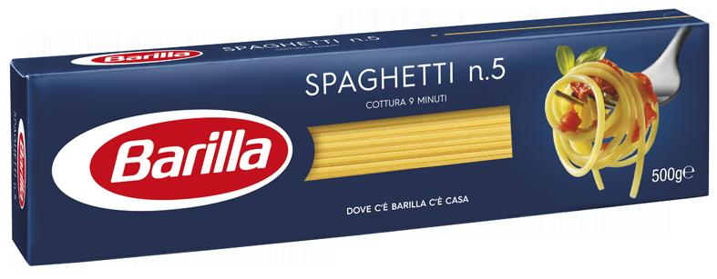 Макарони BARILLA 5 SPAGHETTI 500г, 24шт/ящ