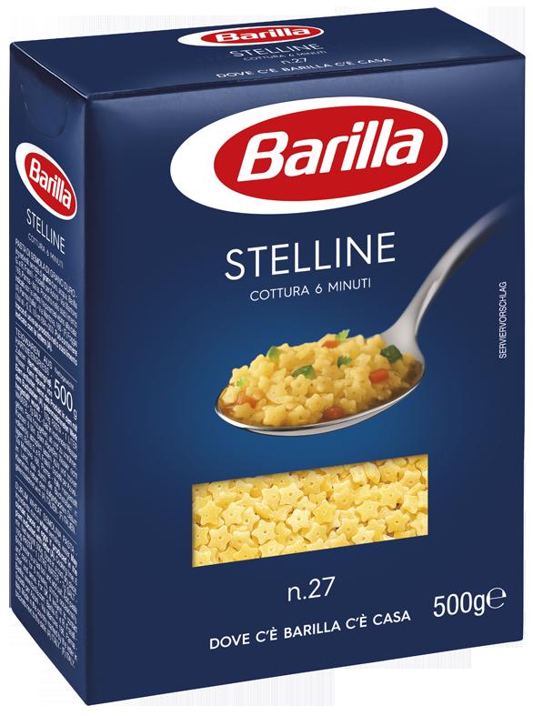 Макарони BARILLA 27 STELLINE зірочки, 500г, 16шт/ящ