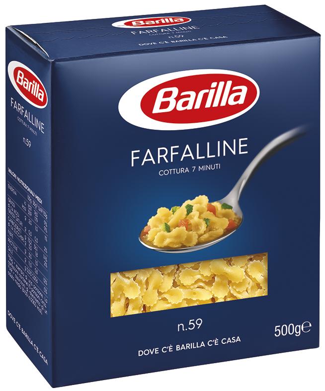 Макарони BARILLA 59 FARFALLINE бантики, 500гр (15\шт/ящ)