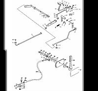 Механизм управления дросселем на YTO-X904