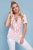 Нарядна блузка персикова, фото 1