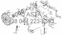 Главный рычаг управления сцеплением на YTO-X904