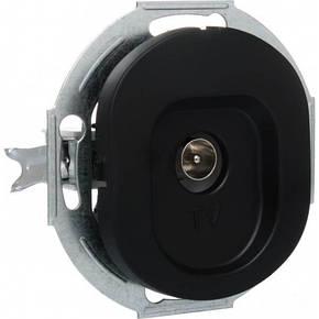 Розетка телевизионная черная Eon, фото 2