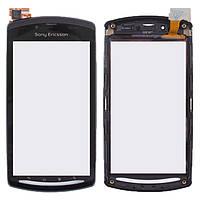 Сенсорный экран Sony Ericsson Xperia R800i Play черный (тачскрин, стекло, передняя панель в сборе), Сенсорний екран Sony Ericsson Xperia R800i Play