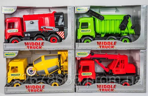 Машина грузовик Middle truck WADER мусоровоз