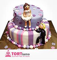 """Свадебный торт на заказ """"Веселая свадьба"""""""