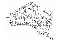 Передний кронштейн в сборе (дополнительно) на YTO-X904