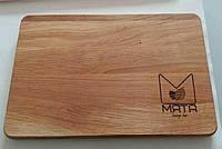 Кухонная доска с гравировкой логотипа