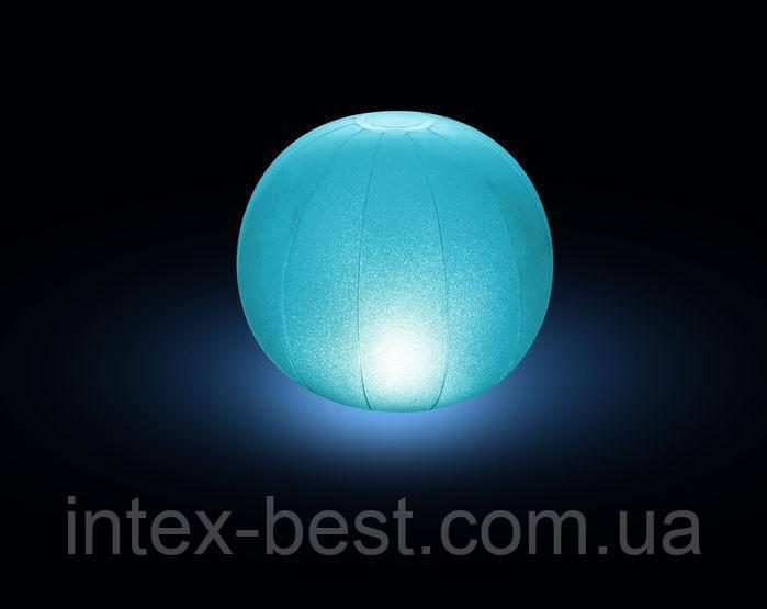28693, Intex, Плаваящая подсветка Шар, 23х22см