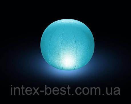 28693, Intex, Плаваящая подсветка Шар, 23х22см, фото 2
