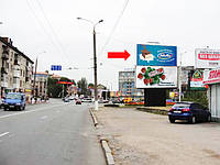 Щит г. Винница, Киевская ул. / пл. Октября, центр города, верхний
