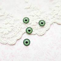 Глазки для кукол пластиковые, глазное яблоко, зеленые - 8 мм