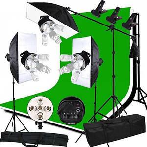 Комплект набір студійного світла для фотостудії, відеостудії, фотостудія під ключ.