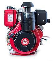 Двигатель дизельный WEIMA WM188FBЕ (12 л.с., сьем. цилиндр, шлицы Ø25мм, эл.старт), фото 1