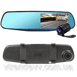 Видеорегистратор зеркало с двумя камерами Vehicle Blackbox DVR L-708 Full HD 1080
