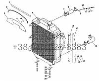 Радиатор в сборе на YTO-X904, фото 1
