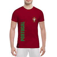 Футболка с принтом сборной Португалии (красная)