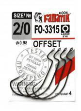 Офсетный крючок Fanatik FO-3315 №2/0