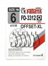 Гачок Fanatik FO-3312 №6 XL офсетний (6шт)