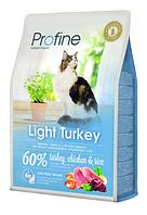 Сухой корм для контроля массы у кошек с избыточным весом Profine Cat Light Turkey с индейкой и курицей 300 г