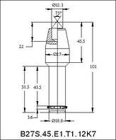 Траншейные резцы B27N-12,3