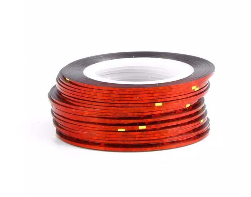 Нитка для нігтів в рулоні STZ червоний з блиском 0,8 мм