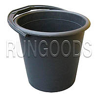 Ведро полиэтиленовое 10 литров черное хозяйственное