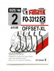 Гачок Fanatik FO-3312 №2 XL офсетний (5шт)